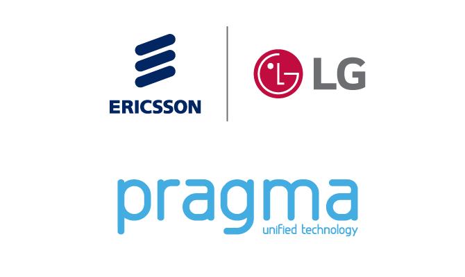 Pragma and Ericsson-LG logos