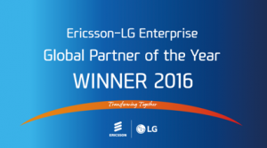 Ericsson-LG Enterprise Global Partner of the Year Winner 2016