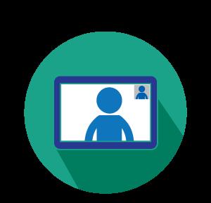 Video conferencing icon