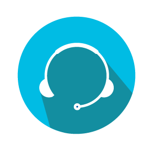 Call centre headset icon